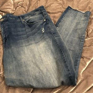 NWOT Seven7 mid rise ankle skinny jeans 24w
